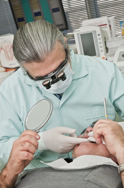 dentist fixing a cracked tooth